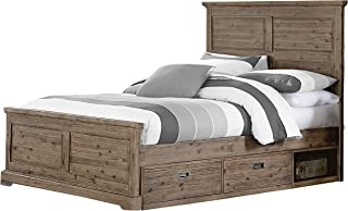 Hillsdale Furniture 7104-460NS Oxford Panel Bed with Storage Full Cocoa