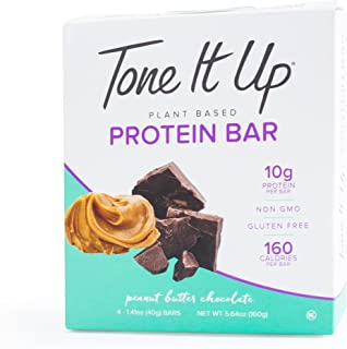 Tone it Up Protein Bars Peanut Butter Chocolate Protein Bar 1.76 Ounce - 4 Count Bars (Total 7.04 Ounce)
