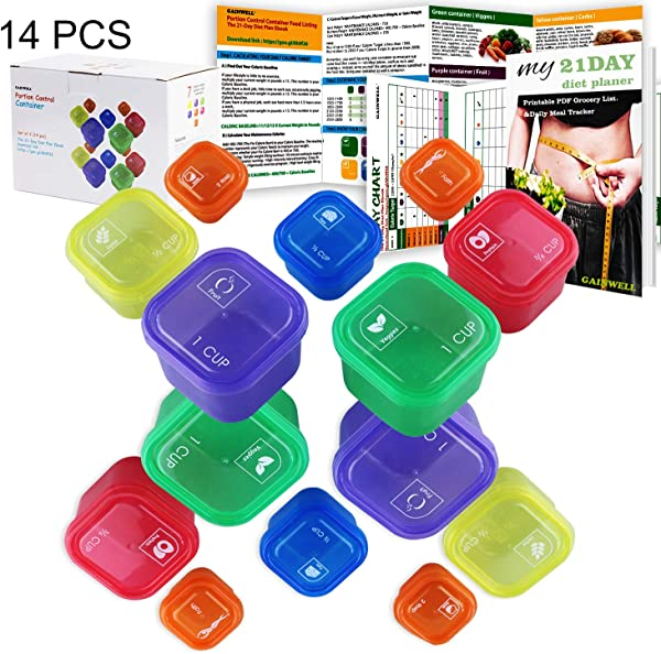21 Day Portion Control Container Kit 14 Pieces