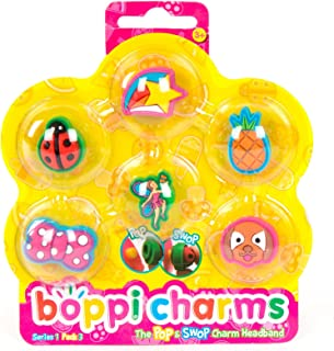 Collectible Accessory Pack Set of 6 boppi Fashion Headband/Hairband Charms - Series 1 Pack 3