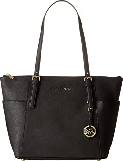7d2a845ef06f43 MICHAEL Michael Kors. Jet Set Chain Signature Medium Shoulder Tote.  $159.99MSRP: $228.00. Black