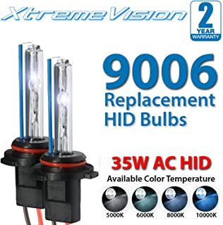 XtremeVision AC HID Xenon Replacement Bulbs - 9006 8000K - Medium Blue (1 Pair) - 2 Year Warranty