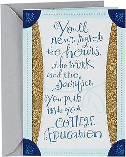Hallmark College Graduation Card (Blue and Gold Savor the Success)