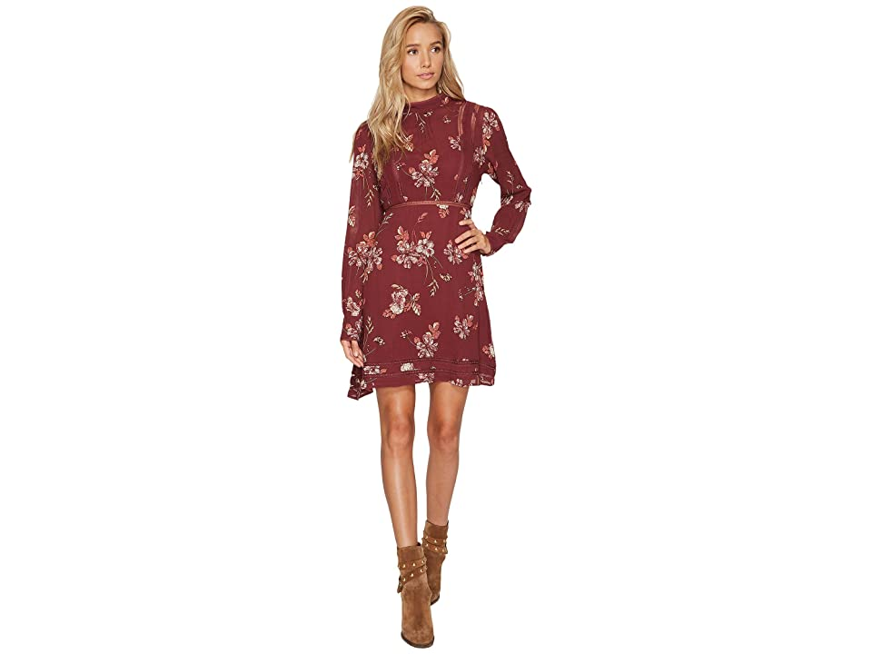 ASTR the Label Kirsten Dress (Wine Multi Floral) Women
