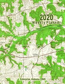 2020 Weekly Planner: Enterprise, Alabama (1960): Vintage Topo Map Cover