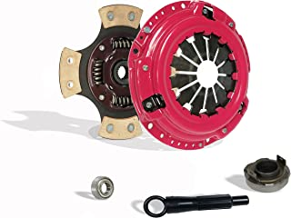 Clutch Kit Works With Honda Crx Base Cx Dx Ex Lx Rt Si Hf 1990-1991 1.6L L4 1.5L l4 GAS SOHC Naturally Aspirated (D15; D16; all model with ZC motor w/cable tranny; Except 4Wd Wagon; 4-Puck Stage 3)