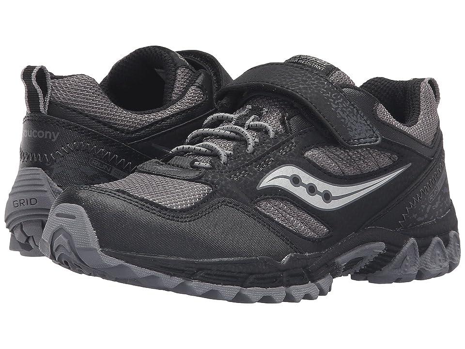 Saucony Kids Excursion Water Shield A/C (Little Kid) (Black/Grey) Boys Shoes