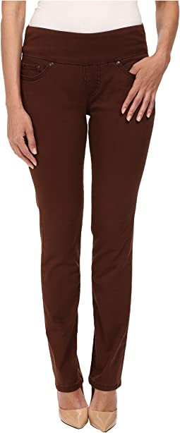 Petite Peri Pull On Straight Twill Pants