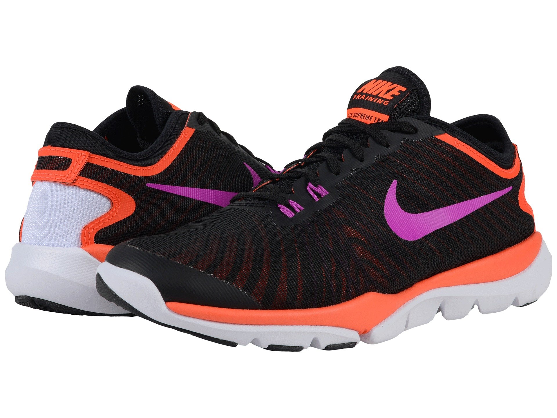 release date 93411 a1823 nike training flex supreme tr4 pink and black Find great deals for Nike  Women s Flex Supreme Tr4 Training Wolf Grey Black Pink Size 7.5 Flywire.