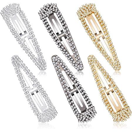 Fashion Long Crystal Hair Clip Snap Barrette Girl Hairpin Bobby Hair Accessories
