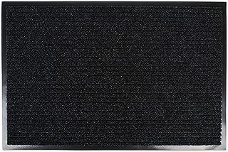 J&M Home Fashions Heavy Duty Outdoor/Indoor Doormat, 30x48, Charcoal Black Utility Mat