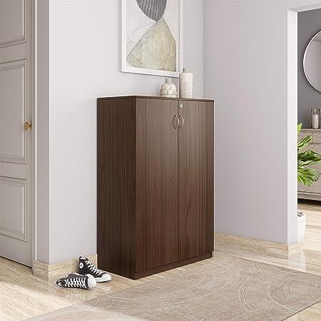 Amazon Brand - Solimo Tucana Engineered Wood Storage Unit Brown , 2 Doors