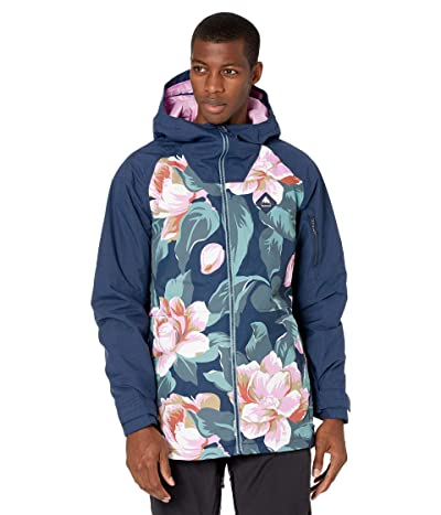 Burton Hilltop Jacket (Dark Slate Oversized Floral/Dress Blue) Men