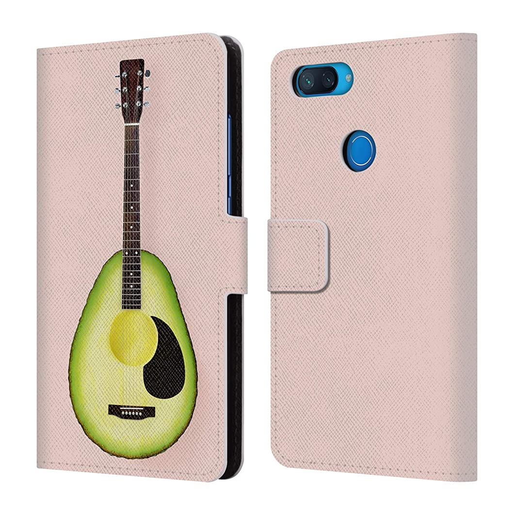 Official Paul Fuentes Avocado Guitar Pastels Leather Book Wallet Case Cover Compatible for Xiaomi Mi 8 Lite/Mi 8X