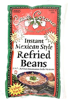 Casa Corona Instant Mexican Style (Refried Beans 3lb Bag)