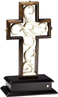 Unity Cross Aged Black Umber and Ivory