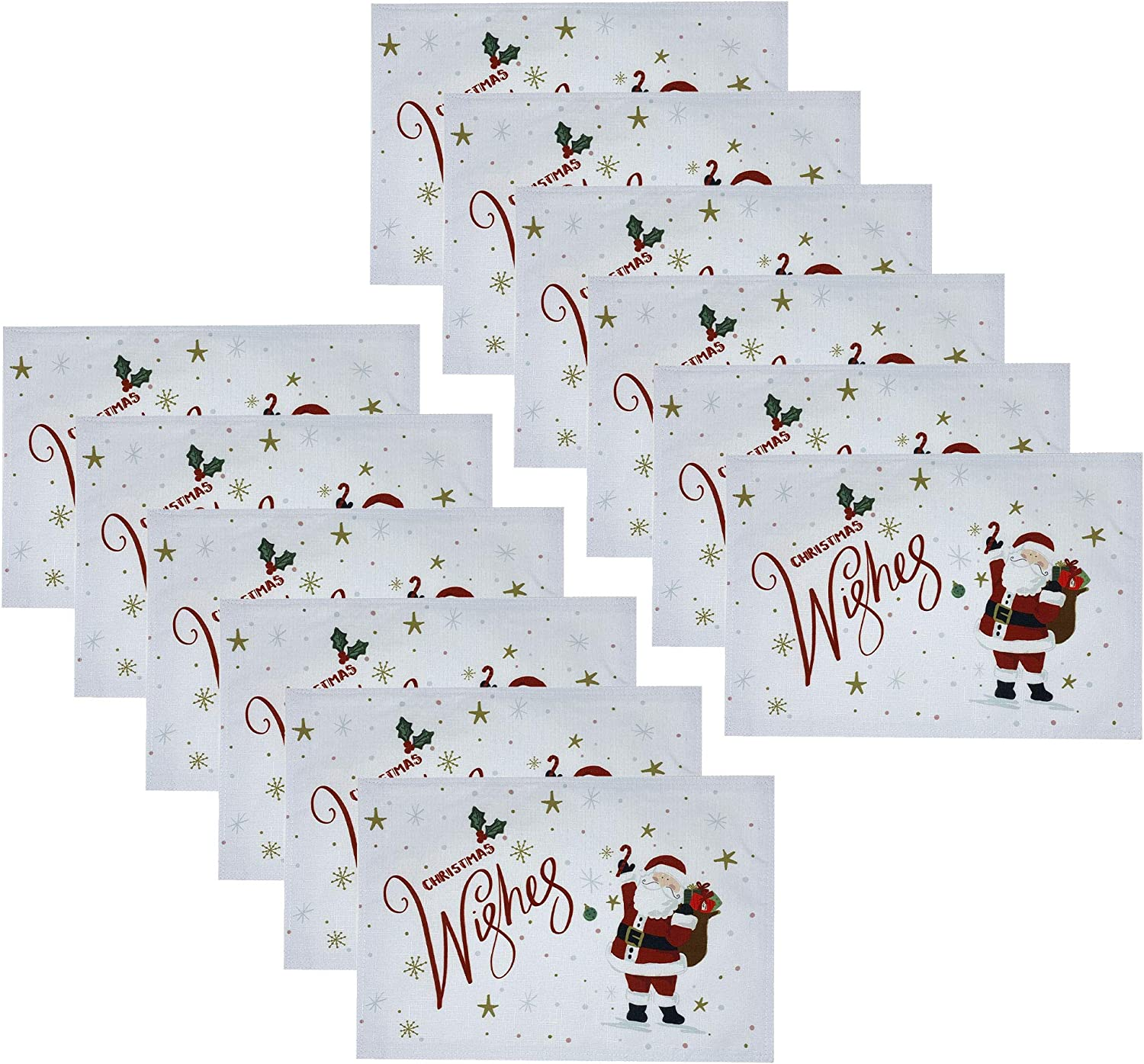 Elrene Home Fashions Santa Las Vegas Mall Wishes Christmas Holiday Placemat Time sale Se