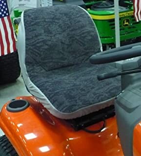 Durafit Seat Covers, Gray Insulated Tractor Seat Cover for Husqvarna 18 inch One Piece Seat