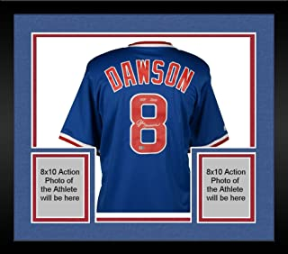 Framed Andre Dawson Chicago Cubs Autographed Majestic Blue Cooperstown Collection Replica Jersey with