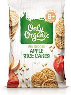 Only Organic Apple Rice Cakes 8+ Months - 40g