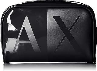 A X Armani Exchange Zip Round Pouch, black