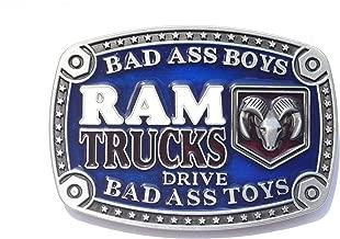 DODGE RAM Belt Buckle Bad Ass Boys Drive Bad Ass Trucks gift