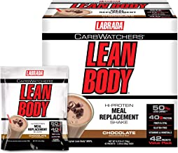 Labrada Carb Watcher Lean Body Chocolate Powder Sachets Pack of 42