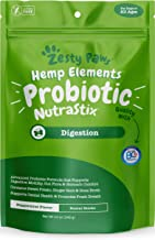 Zesty Paws Probiotic Dental Sticks for Dogs - with Hemp, Sweet Potato, Bone Broth & Ginger - Dog Teeth Cleaning & Tartar Control Treats with Digestive Probiotics - Helps with Gas, Bloating & Diarrhea