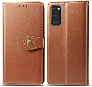 For Galaxy S11e Retro Solid Color Leather Buckle Mobile Phone Protection Leather Case with Photo Frame & Card Slot & Wallet & Bracket Function New (Black) Lyaoo (Color : Brown)