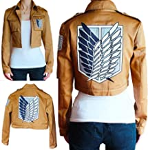Attack on Titan Anime Khaki Color Jacket Coat Cosplay or Daily Use Unisex
