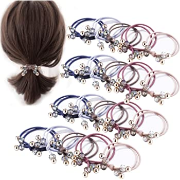 10Pc Glitter Shiny Lots Kids Scrunchie Elastic Hair Rings Girls Rubber Hair Ties