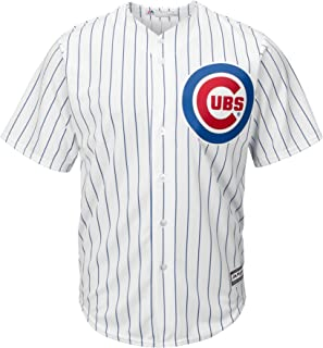 Majestic Chicago Cubs Cool Base Pinstripe Tackle Twill Baseball Jersey