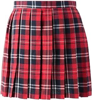 Women School Uniforms plaid Pleated Mini Skirt