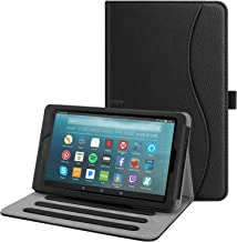 Fintie Case for All-New Amazon Fire 7 Tablet (9th Generation, 2019 Release) - [Multi-Angle] Viewing Folio Stand Cover with Pocket Auto Wake/Sleep, Black