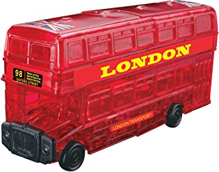 Gifts for Kids 12+ Years Old and Adults DIY Car Crafts Model Traffic Vehicles 3D Puzzles Set Car 54Pcs and Double-Decker Bus 94Pcs 3D Wooden Puzzles for Boys