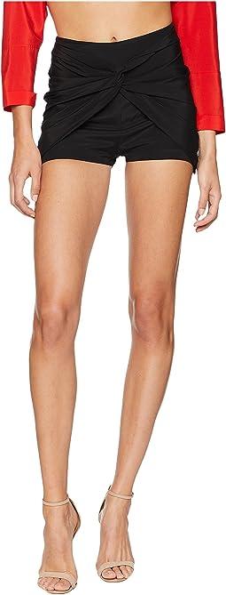 Ruffled Jade Shorts