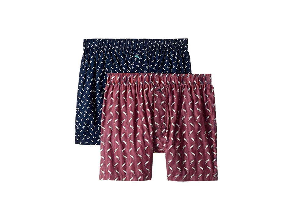 Tommy Bahama - Tommy Bahama 2-Pack Island Washed Cotton Woven Boxer Set