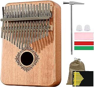 Kalimba Thumb Piano 17 Keys, Portable Mbira Finger Piano(Protective bag) with Study Instruction and Tune Hammer, Gift for ...