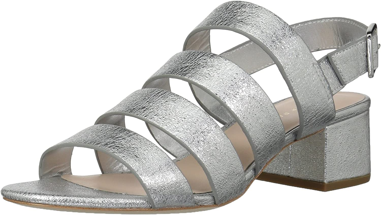 LOEFFLER RANDALL Women's Mavis (Crinkle Metallic) Heeled Sandal