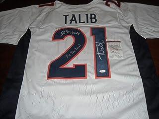 Aqib Talib Signed Jersey - 5x Pro Bowl Sb 50 Champ White coa - JSA Certified - Autographed NFL Jerseys