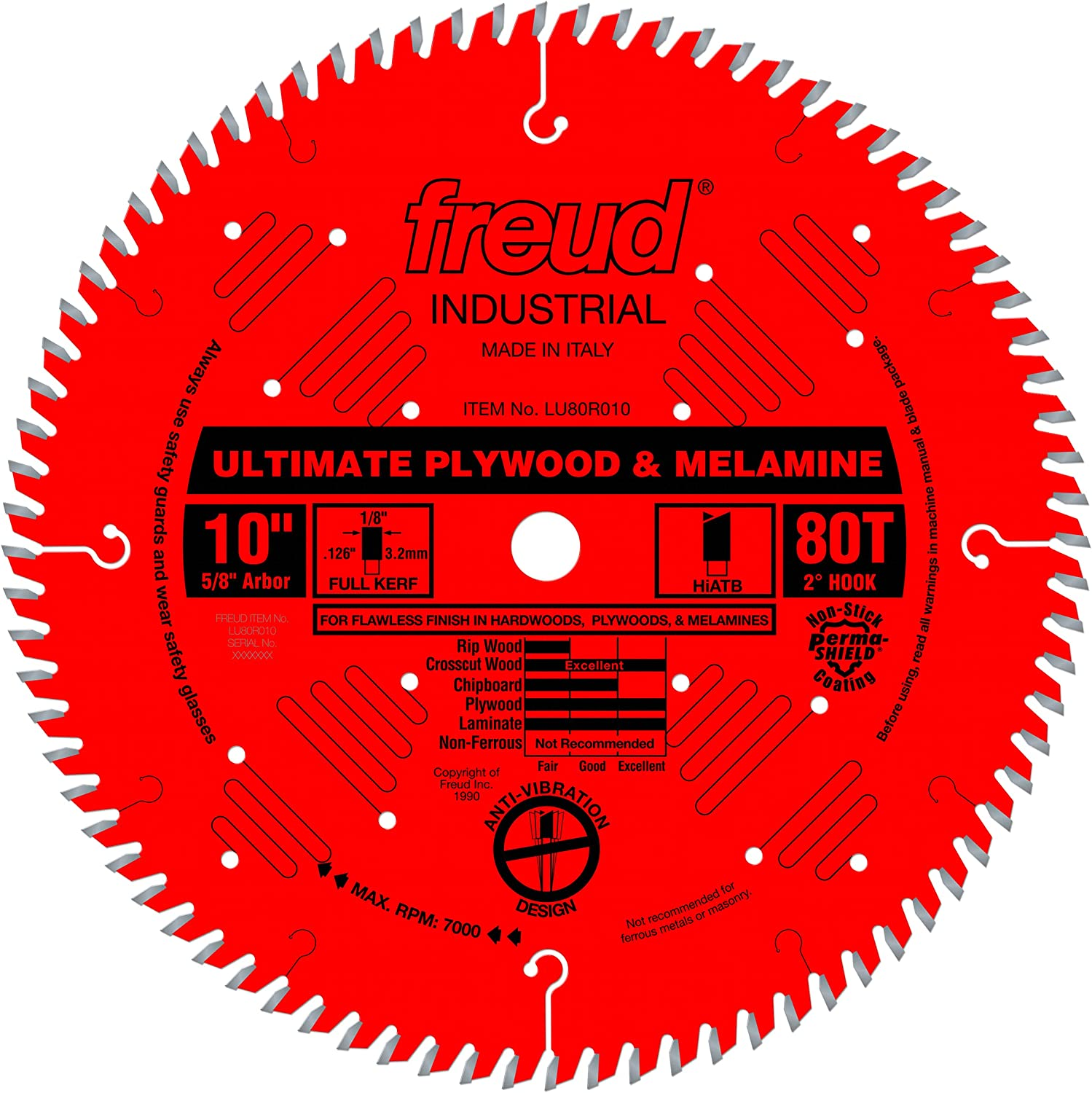 Freud 10 In. 80 Tooth Ultimate Cutting Saw Blade
