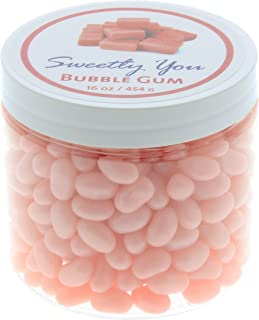 Jelly Belly 1 LB Bubble Gum Flavored Beans. (One Pound, 1 Pound) Bulk Jelly Beans in a resealable and reusable jar.