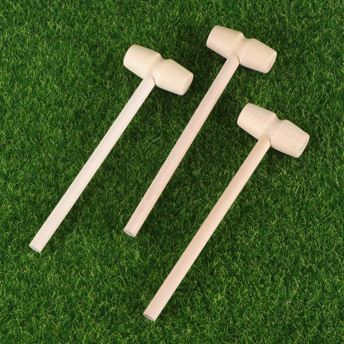 style 1 STOBOK Lot de 12 mini maillets en bois pour chocolat c/œur cassant