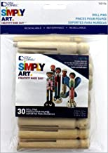 Simply Art Wood Round Doll Pins 30 ct.