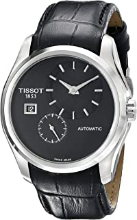 Tissot Men's T0354281605100 Couturier Analog Display Swiss Automatic Black Watch
