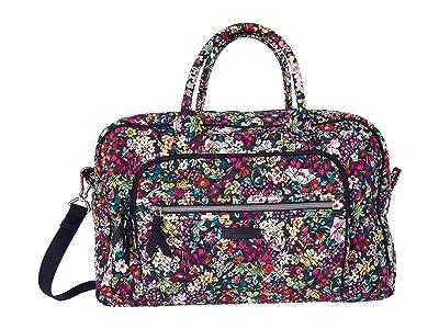 Vera Bradley Compact Weekender Travel Bag (Itsy Ditsy) Weekender/Overnight Luggage
