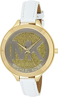 Michael Kors Slim Runway Watch for Women - Analog Leather Band - MK2389