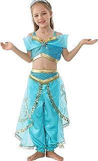 Dressy Daisy Girls Princess Jasmine Dress Up Costumes Halloween Party Fancy Dress