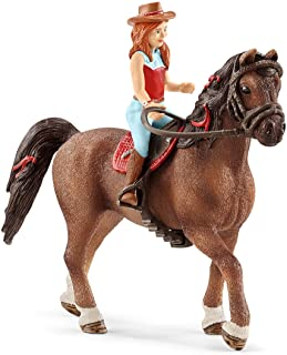 Schleich Horse Club Horse Club Hannah and Cayenne Educational Figurine for Kids Ages 5-12