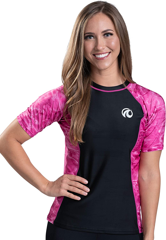 Aqua Design Short Japan Maker New Sleeve Rash Guard UV Protection UPF List price Women 50+